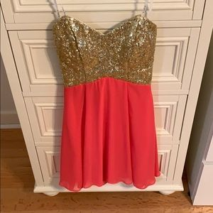 dress with gold sequins